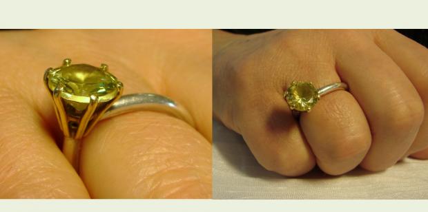 """""""Een eigen ring, van een gevonden Zirkoon!"""""""