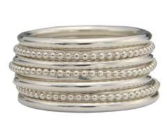 Aanschuifringen zilver
