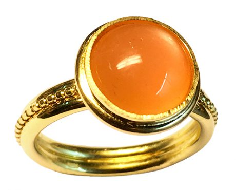 Maansteen zacht oranje